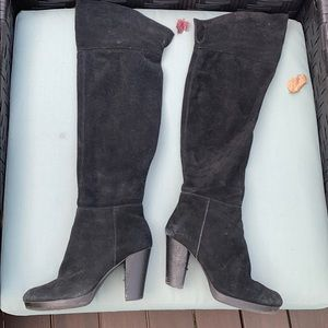 Nine West suede over the knee boot black size 8.5